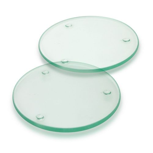 Venice Glass Coaster Set of 2 - Round