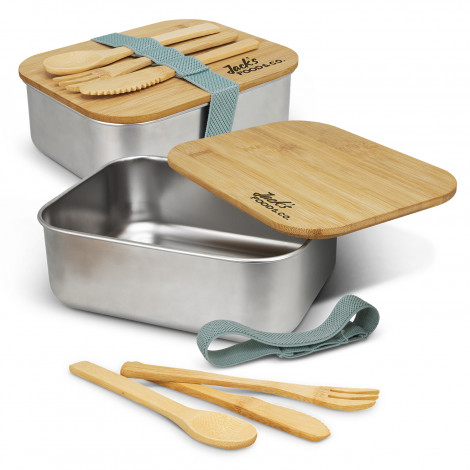 Stainless Steel Bamboo Lunch Box