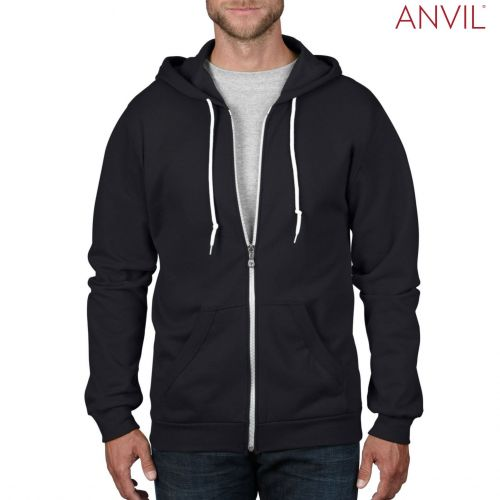 Anvil Adult Full-Zip Hooded Fleece