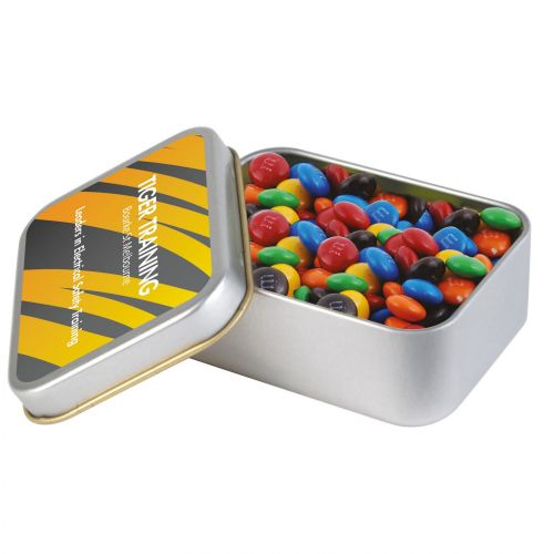 M&M\'s in Silver Rectangular Tin