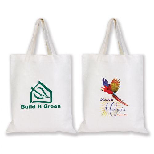 Short Handle Bamboo Tote Bag - 100 GSM