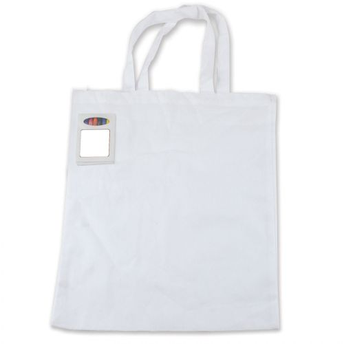 Colouring Short Handle Cotton Bag with Crayons