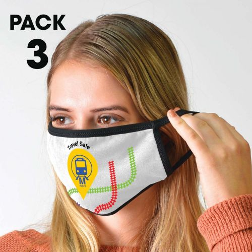 3 Pack - Shield Face Masks