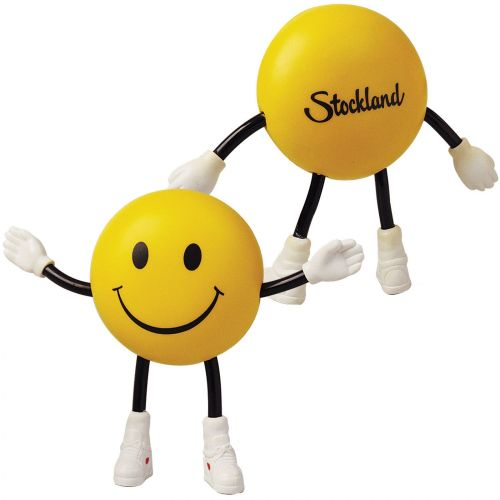Smile Guy with Bendy Arms & Legs Stress Reliever